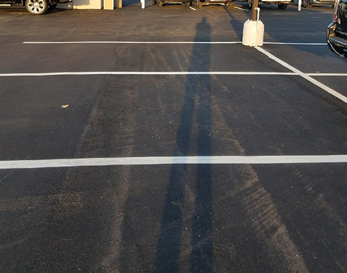 parking lot paved